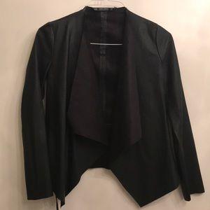 Zara black pleather jacket